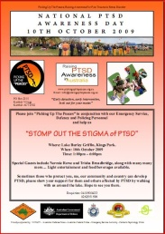 Poster for the 2009 PTSD Awareness Day